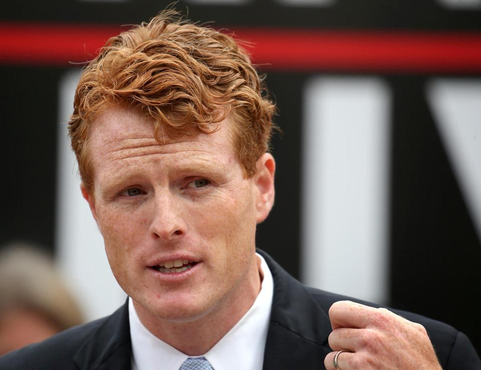 Representative Joe Kennedy said his new economic push is a rebuke to what he describes as the ''trickle-down, feed-the-top, if-you're-struggling-try-harder narrative'' of conservatives.